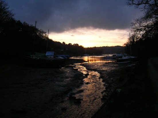 Helford River Cornwall, a Christmas sunset
